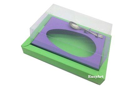 Caixa para Ovos de Colher 350g Verde Pistache / Lilás