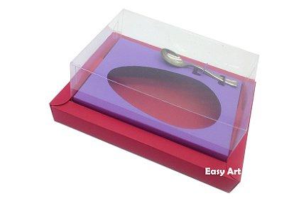 Caixa para Ovos de Colher 350g Vermelho / Lilás