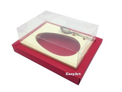 Caixa para Ovos de Colher 350g Vermelho / Marfim
