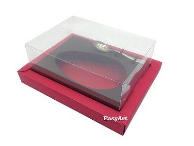 Caixa para Ovos de Colher 350g Vermelho / Marrom