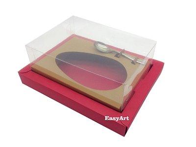 Caixa para Ovos de Colher 350g Vermelho / Marrom Claro