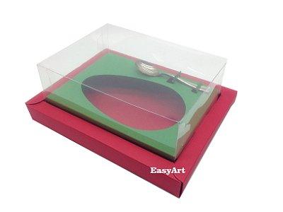 Caixa para Ovos de Colher 350g Vermelho / Verde Bandeira