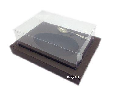 Caixa para Ovos de Colher 500g Marrom Chocolate - Linha Colors