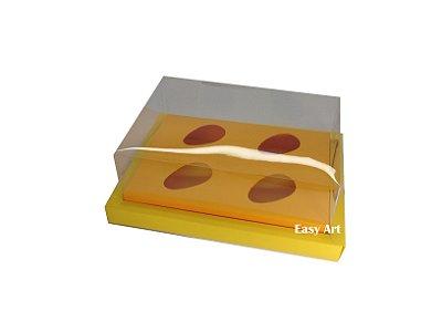 Caixa para Ovos de Colher 4X 50g / Amarelo - Laranja Claro