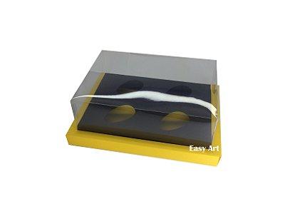 Caixa para Ovos de Colher 4X 50g / Amarelo - Preto