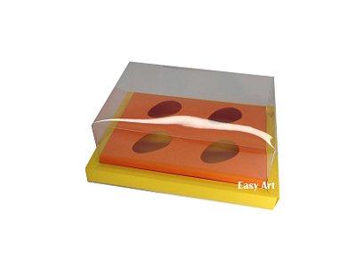 Caixa para Ovos de Colher 4X 50g / Amarelo - Laranja