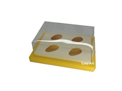 Caixa para Ovos de Colher 4X 50g / Amarelo - Marfim