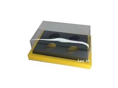 Caixa para Ovos de Colher 4X 50g / Amarelo - Verde Musgo