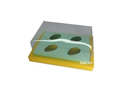 Caixa para Ovos de Colher 4X 50g / Amarelo - Verde Claro