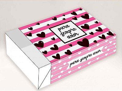 Caixa Pra Sempre Amor /  06 Brigadeiros - 12x8x3,5