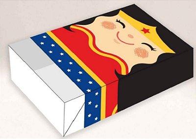 Caixa mulher maravilha II / 06 Brigadeiros - 12x8x3,5