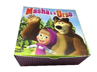 Caixa Masha e o Urso /  04 Brigadeiros - 8x8x3,5