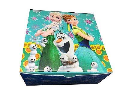 Caixa Frozen /  04 Brigadeiros - 8x8x3,5