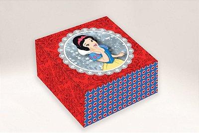 Caixa Princesa Branca de Neve /  04 Brigadeiros - 8x8x3,5