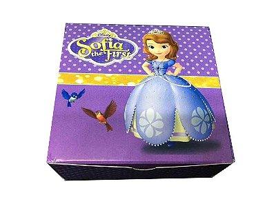 Caixa Princesa Sofia /  04 Brigadeiros - 8x8x3,5