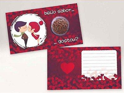 Cartão Blister Beijinho