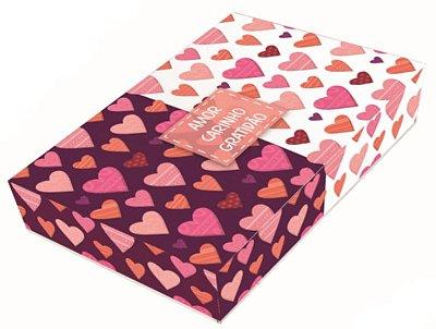 Caixa Coração de Colher / 12 Brigadeiros - 20x13x4