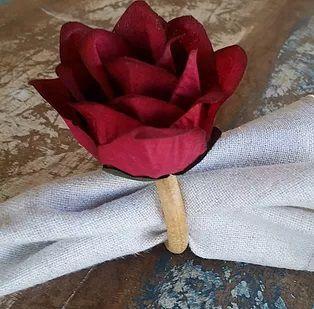 Porta Guardanapos / Flores de Tecido - Alfazema
