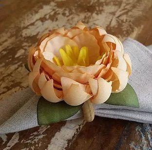 Porta Guardanapos / Flores de Tecido - Flor do Desejo