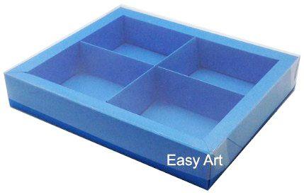 Caixas para Brownies / Biscoitos / Brigadeiros / Sabonetes - Azul Turquesa