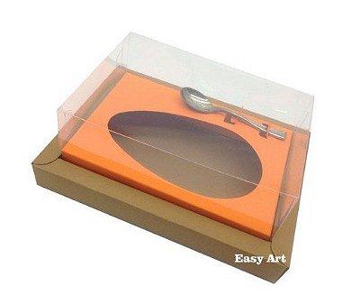 Caixa para Ovos de Colher 250g - Kraft / Laranja