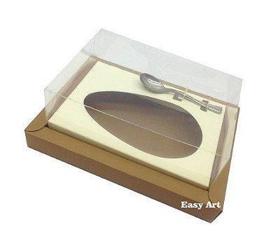 Caixa para Ovos de Colher 250g - Kraft / Marfim