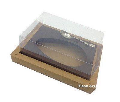 Caixa para Ovos de Colher 250g - Kraft / Marrom Chocolate