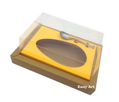 Caixa para Ovos de Colher 250g - Kraft / Laranja Claro