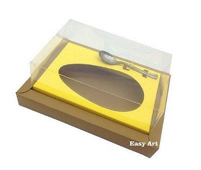 Caixa para Ovos de Colher 350g - Kraft / Amarelo