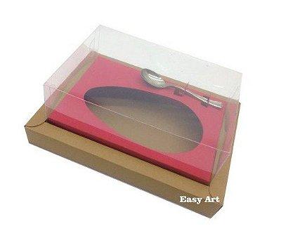 Caixa para Ovos de Colher 350g - Kraft / Vermelho