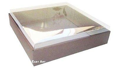 Caixa para 25 Brigadeiros - Marrom Chocolate