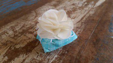Mini Flores para Bem Casados / Tecido - Cravínia