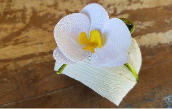 Mini Flores para Bem Casados / Tecido - Mini Orquídea