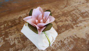 Mini Flores para Bem Casados / Tecido - Mini Lírio