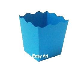 Cachepô / Caixa para Pipoca - Azul Turquesa