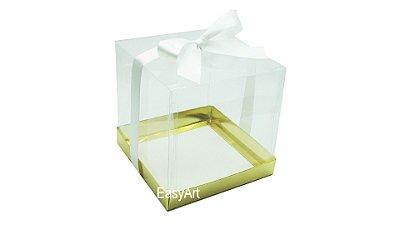 Caixinha para Mini Bolos - Dourado