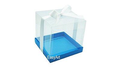 Caixinha para Mini Bolos - Azul Turquesa