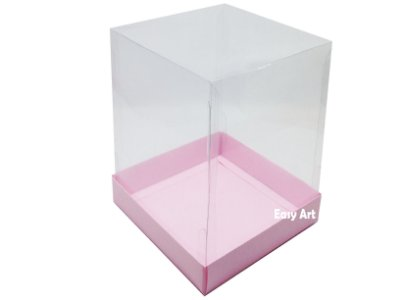 Caixa para Mini Bolo - Rosa Claro