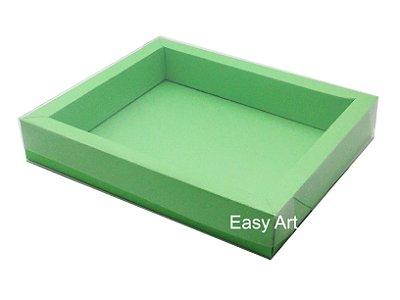 Caixa para 20 Brigadeiros / Tampa Transparente - Verde Pistache
