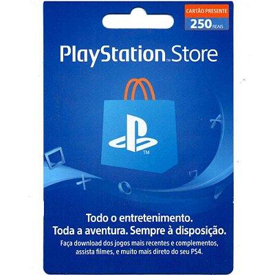 Cartão Presente PSN 250 Brasil