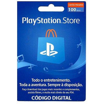 Cartão Presente PSN 100 Brasil