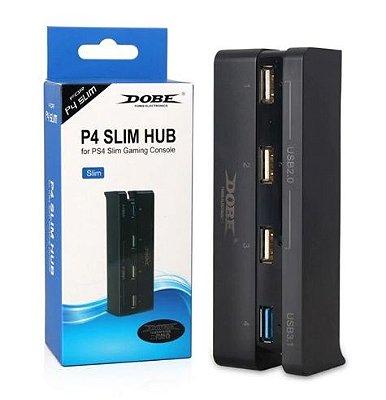 Hub USB 4 Portas USB 3.0 de Alta Velocidade Adaptador Sony PS4 Playstation 4 Slim