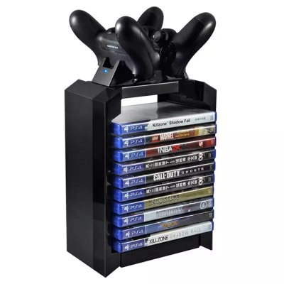 Torre Vertical Stand Dual Dock Station PS4 Xbox One S