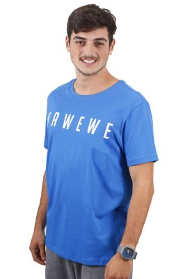 Camiseta Hawewe Surf Azul Royal
