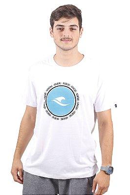 Camiseta Hawewe Surf Logo Paradise Branca