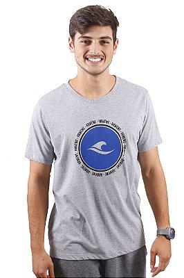 Camiseta Hawewe Surf Logo Paradise Mescla