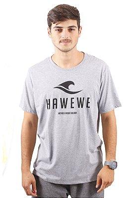 Camiseta Hawewe Surf Movido a Água Salgada Mescla