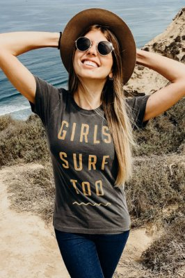 Camiseta Hawewe Estonada Girls Surf Too Laranja