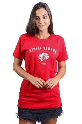Camiseta Hawewe Bikini Season Vermelha