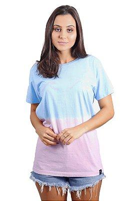 Camiseta Hawewe Degradê Ondas Rosa